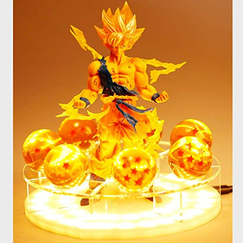 Dragon Ball Z Son Goku Led Licht Lampe Geist Bombe Figuren Anime...