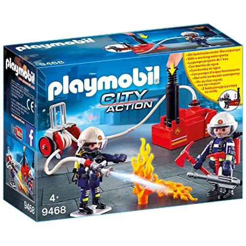 PLAYMOBIL City Action 9468 Feuerwehrmänner mit Löschpumpe, Ab 5...