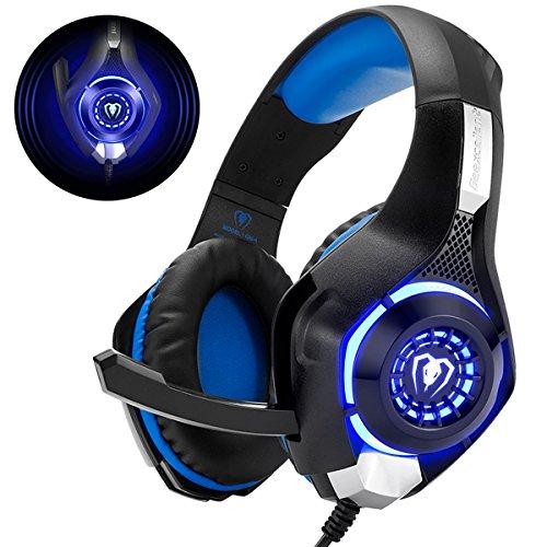 Beexcellent Gaming Headset für PS4 PC Xbox One, LED Licht Crystal Clarity Sound Professional Kopfhörer mit...