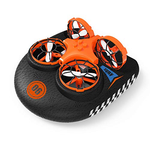 EACHINE E016F Boot Drohne Ferngesteuertes Boot Racing Hovercraft Abnehmbar Amphibious Vehicle Spielzeug Mini...