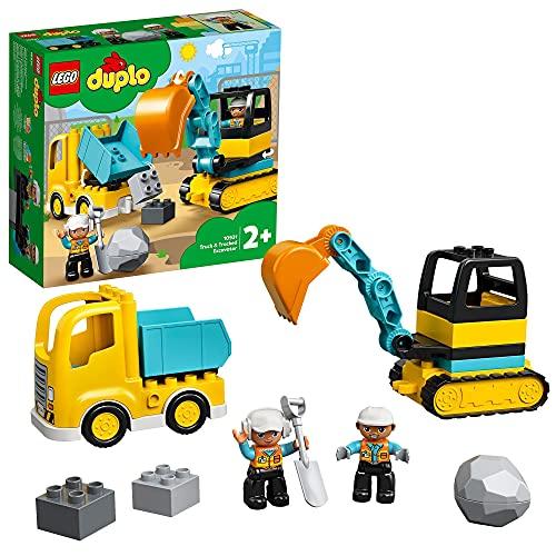 LEGO 10931 DUPLO Bagger und Laster Baufahrzeug Spielzeugset für...