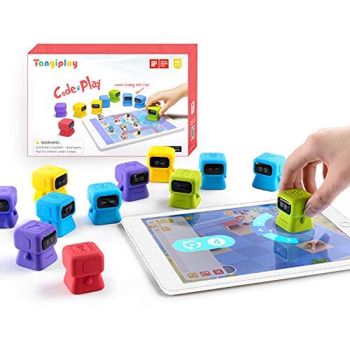 Tangiplay Kids Coding Spielzeug Montessori Lernspiele, STEAM Programmierbarer Roboter, Spielerisch...