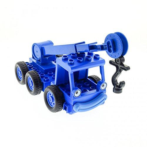 1 x Lego Duplo Bau Fahrzeug Kran Heppo blau für Bob der Baumeister...