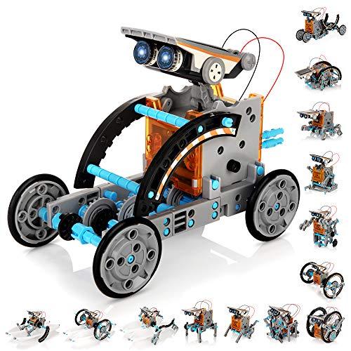 KIDWILL 14 in 1 Solar Roboter Set, STEM Spielzeug Roboter Bausatz...