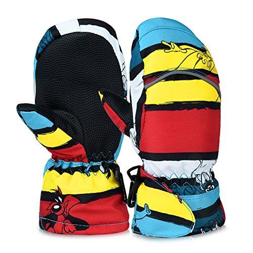 Vbiger Kinder handschuhe ski Handschuhe Warm Winter Handschuhe Anti-Rutsch Sport handschuhe Camo Windproof...