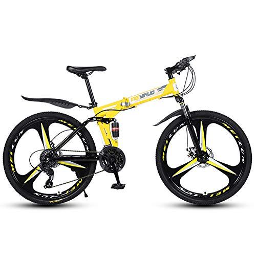 MYRCLMY Mountain Bike 26 Zoll, 3-Speichen 21/24/27 Geschwindigkeit...