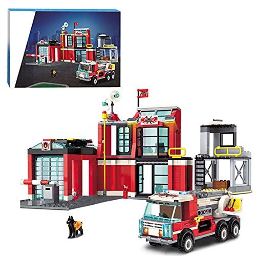 CALEN City Feuerwehr Station Baukasten mit Feuerwehr Garage und...