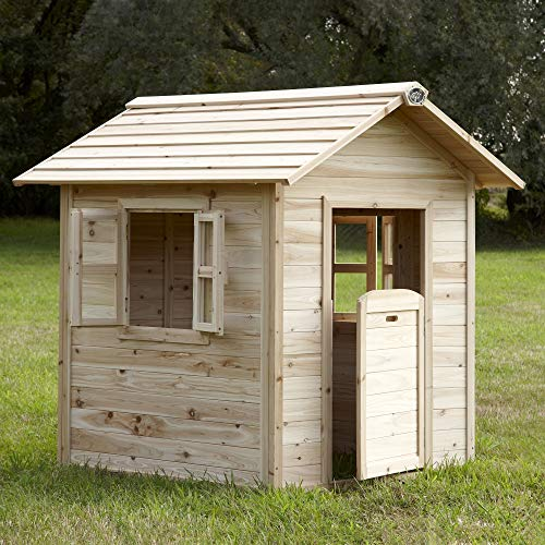Beauty.Scouts Holzspielhaus Leah 102x94x133cm Holz Natur in braun...