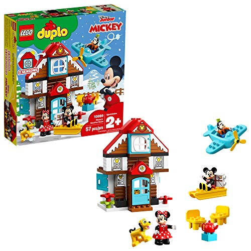 LEGO DUPLO Disney Mickey's Vacation House 10889 Toy House Building Set...
