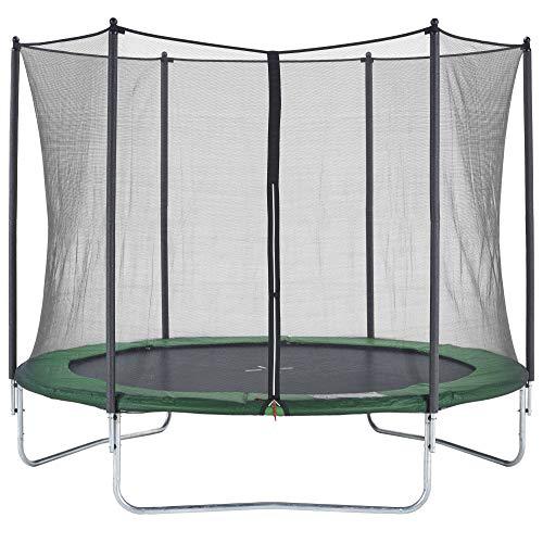CZON SPORTS Gartentrampolin Ø300 cm mit Sicherheitsnetz, grün|trampolin|trampolin outdoor