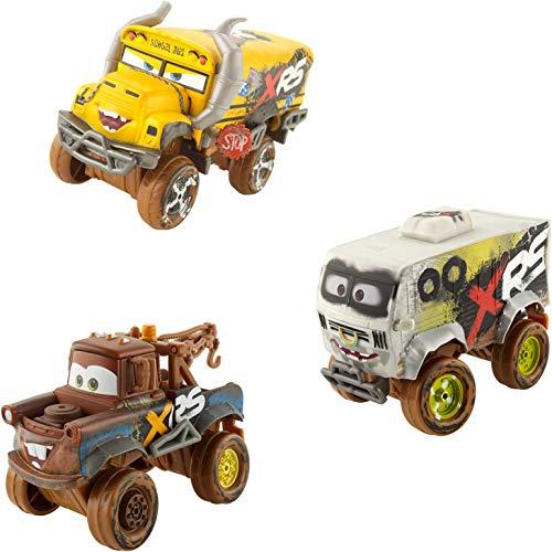 Disney Cars GBJ46 - XRS Xtreme Racing Serie Schlammrennen Die-Cast Spielzeugauto Deluxe Miss Fritter, Hook,...
