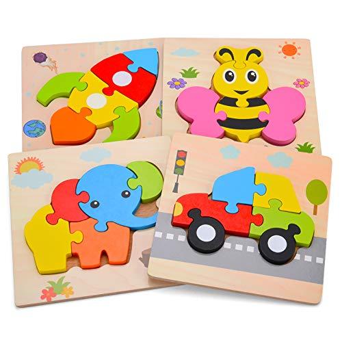 Aoliandatong Holzpuzzle, Steckpuzzle Holz Montessori Spielzeug fr...