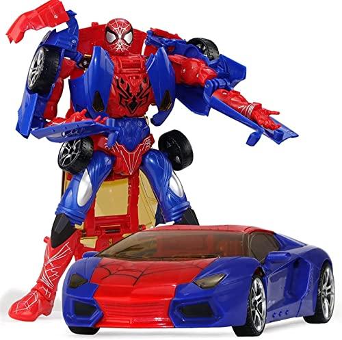 JJILY Spiderman Manual Deformation Car Toy Autobots Robot Model Boys...