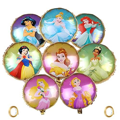 Princess Ballons,8 Stücke Disney Princess runder Folienballon...