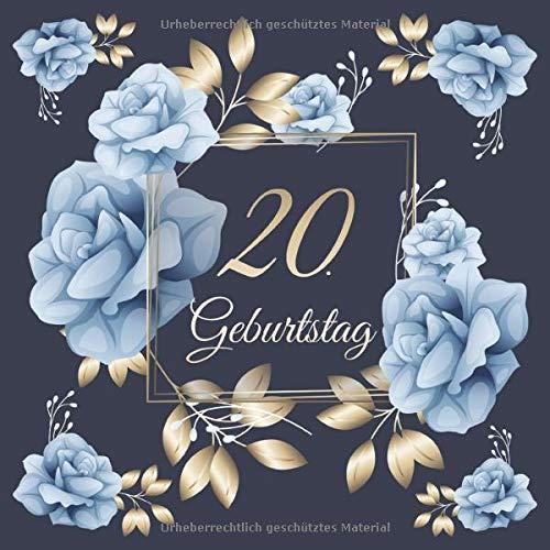 20. Geburtstag: Vintage Gästebuch Zum Ausfüllen - 20 Jahre...