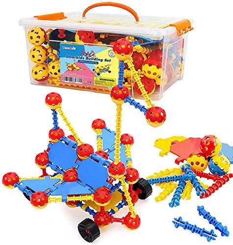 Smarkids Bausteine für Kinder, Kreativ Bauklötze Motorikspielzeug...