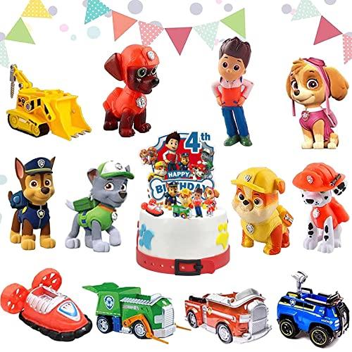 Dog Patrol Kuchen Dekoration Supplies,Paw Patrol Figuren Torte,Kinder...