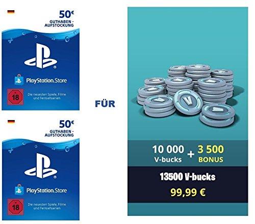 PSN Guthaben für Fortnite - 10.000 V-Bucks + 3.500 extra V-Bucks -...