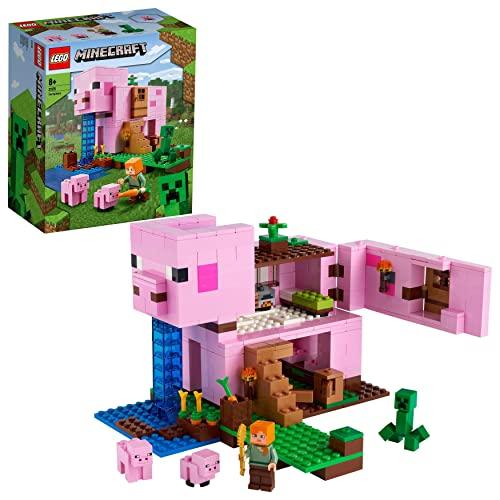 LEGO 21170 Minecraft Das Schweinehaus Bauset mit Figuren: Alex und...