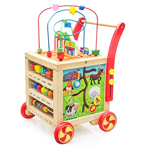 Lauflernwagen Holz Lauflernhilfe Laufwagen Holzspielzeug...