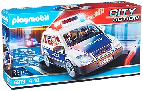 Playmobil City Action 6873 Polizei-Einsatzwagen mit Licht- und...