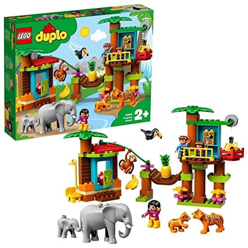LEGO 10906 DUPLO Town Baumhaus im Dschungel Bauset, Lernspielzeug für...