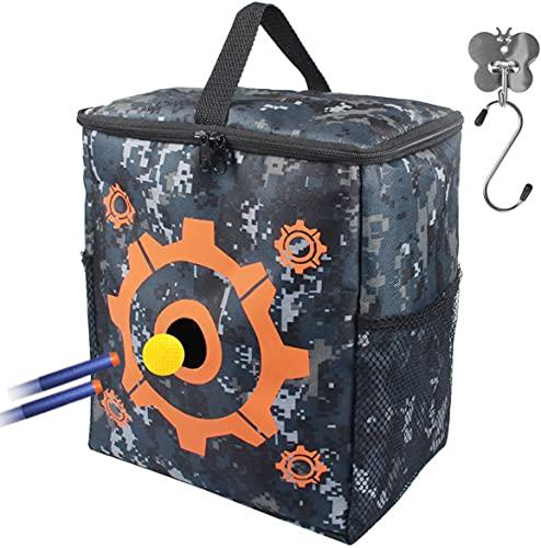 AMOSTING Zielscheibe für Nerf mit 2 Haken, Tragbare Tasche für Nerf...