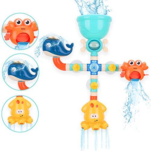 BBLIKE Badespielzeug Set, Spielzeug Badewanne...
