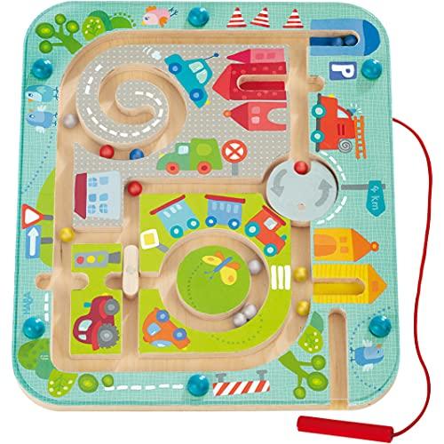 Haba 301056 - Magnetspiel Stadtlabyrinth, pädagogisches Holzspielzeug...