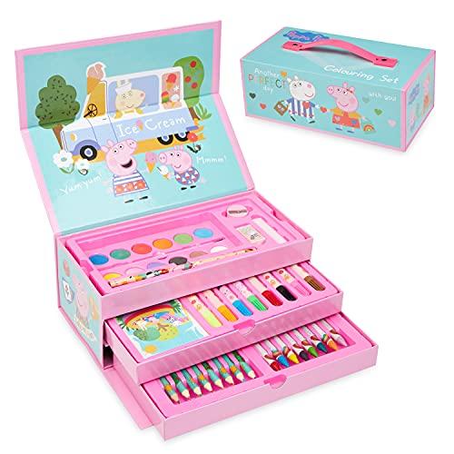 Peppa Pig Buntstifte Kinder Set, Malset für Kinder, Peppa Wutz Stifte...