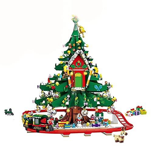 Weihnachten Bausteine Bauset, 2126 Teile 2021 Weihnachten Baumhaus Zug...