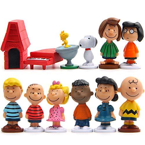 Snoopy Figures Set 12 Stück Erdnuss-Comics Geburtstags Party liefert...