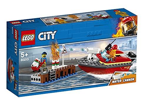 LEGO 60213 City Feuerwehr am Hafen Set mit Wasserkanone und Feuerwehr...
