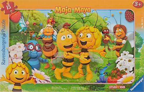 Ravensburger Kinderpuzzle - 06121 Biene Majas Welt - Rahmenpuzzle für...