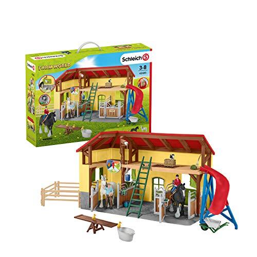 Schleich 42485 Farm World Spielset - Pferdestall, Spielzeug ab 3...