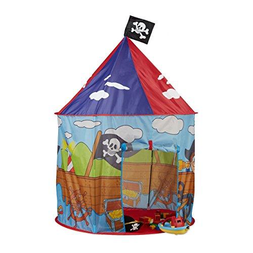Relaxdays 10022458 Piraten Spielzelt für Jungen,...