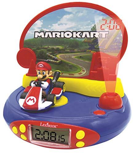 Lexibook RP500NI Mario Kart Projektor Wecker für Kinder-Nintendo-Mit...
