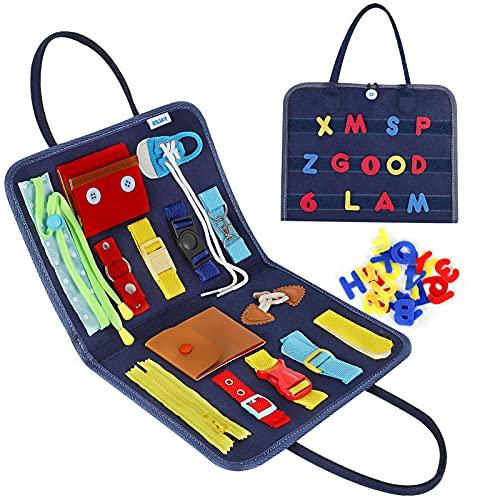 Esjay Busy Board für Kleinkinder, Montessori Spielzeug, Baby...