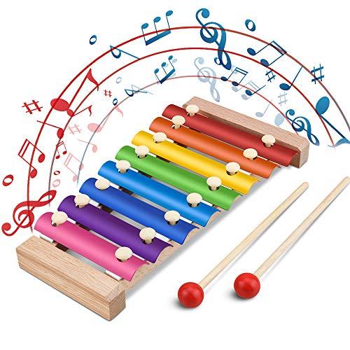 Jooheli Xylophon für Kinder, Musikspielzeug Schlagzeug Schlagwerk,...