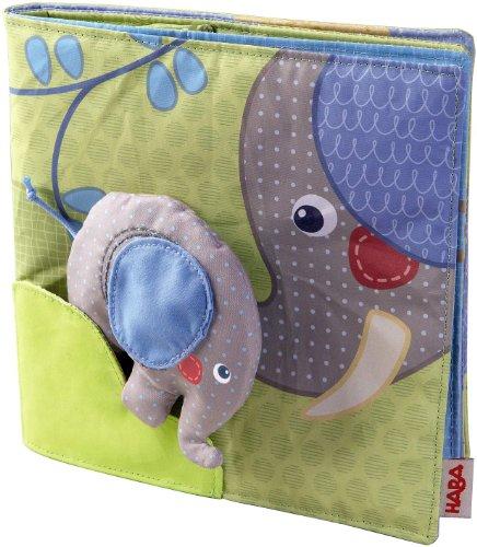Haba 300146 - Stoffbuch Elefant Egon, weiches...