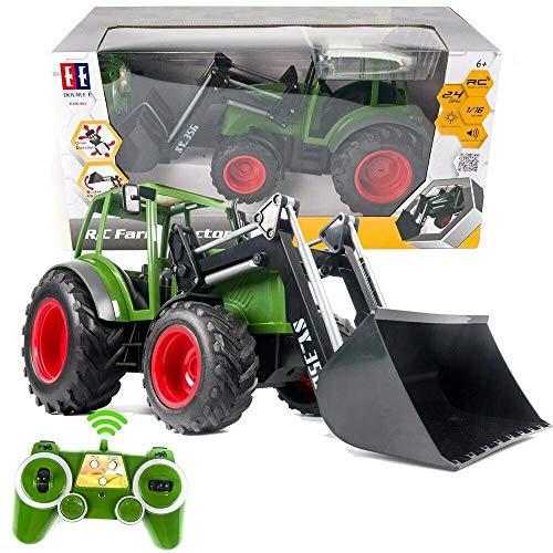 s-idee® S356 RC Traktor 1:16 mit 2,4 GHz ferngesteuert mit Licht und...