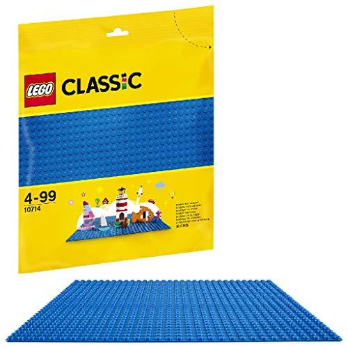 LEGO 10714 Classic Blaue Bauplatte, 25 cm x 25 cm, Lernspielzeug,...