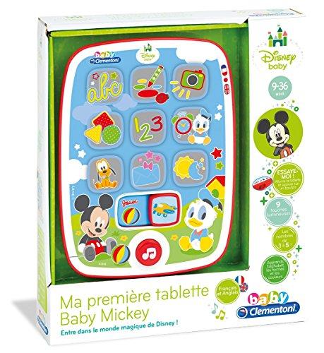 Clementoni 62496-Kindertablet Baby Micky, für Kleinkinder, französische Version