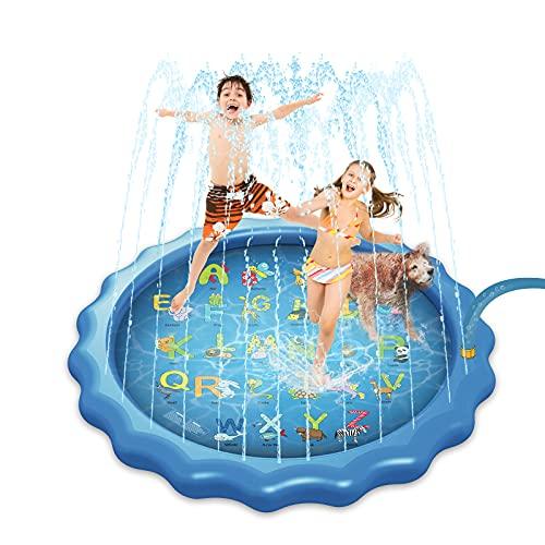 Yeelan Splash Pad,170cm Wassermatte für Kinder,Sprinkler Matte mit...