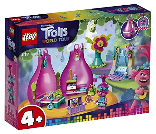 LEGO 41251 Trolle World Tour Poppy's Wohnblüte Spielset, tragbares...