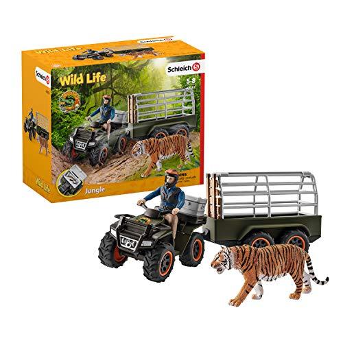 Schleich 42351 Wild Life Spielset - Quad mit Anhänger und Ranger,...