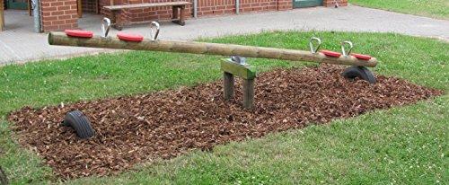 Kinder Holzwippe für 2 Kinder Garten-Holzwippe Kinder-Wippe - (3063)