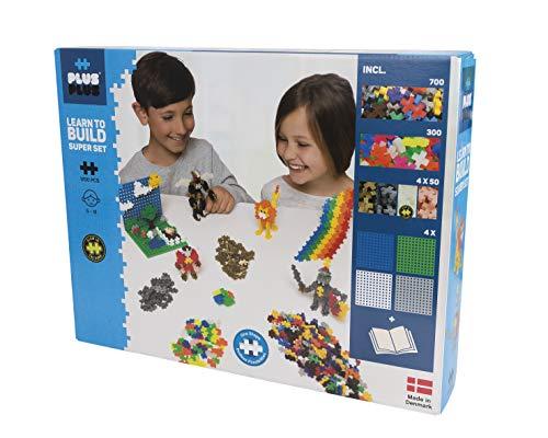 Plus-Plus 9603811 Mini Geniales Konstruktionsspielzeug, Learn to Build Super Bausteine-Set, 1200 Teile, bunt