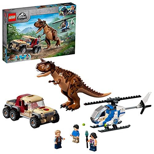 LEGO 76941 Jurassic World Verfolgung des Carnotaurus Spielzeug mit...