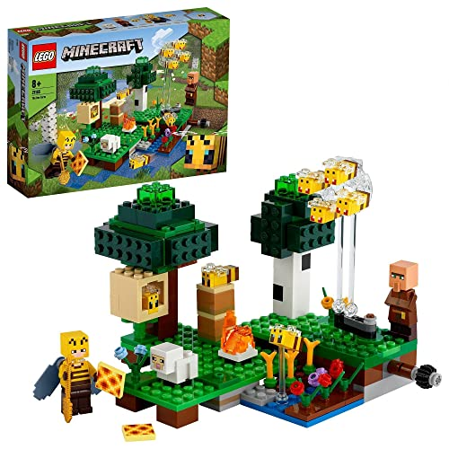 LEGO 21165 Minecraft Die Bienenfarm, Bauset mit Bienenzüchterin und...